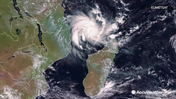 Satellite imagery captures Tropical Storm Kenneth as it nears Mozambique