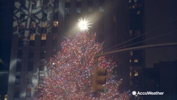 Thousands brave cold temps to view Rockefeller Center Christmas Tree Lighting
