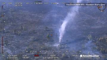 'Smoke devil' swirls rapidly over fire in Australia