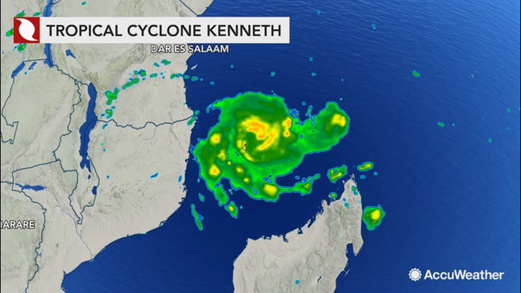 Tropical Storm Kenneth churns offshore as landfall approaches