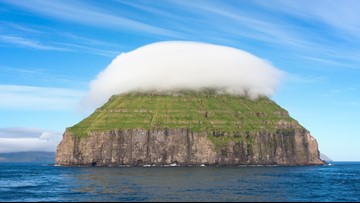 This Tiny Island is Often Covered by its Own Personal Cloud