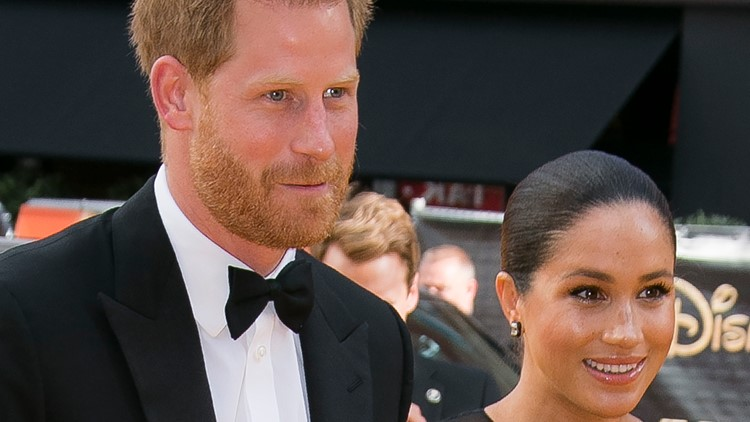Britain Lion King Premiere Meghan Markle Prince Harry