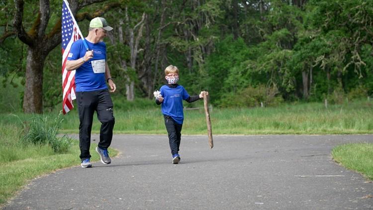 'Not a dry eye' | Service members run alongside Gold Star kids in memorial run