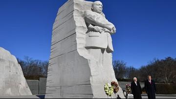 Trump visits MLK memorial