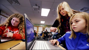 Girls top boys at technology even if they don't take classes