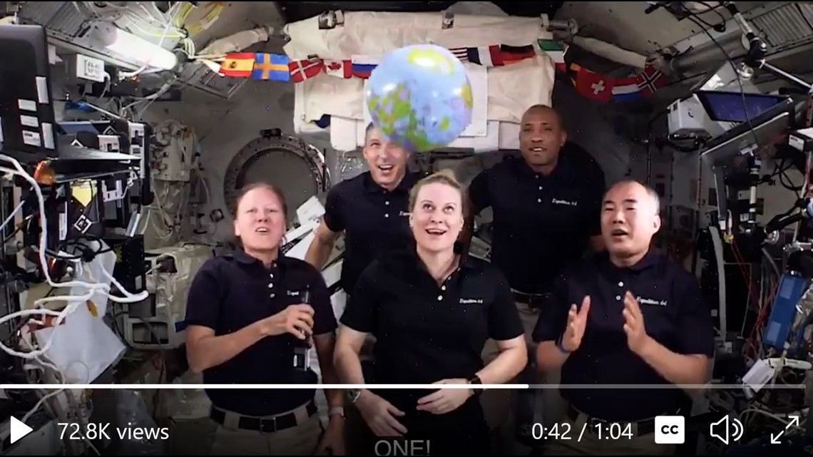 The ball 'drops up' in New Year's video from International Space Station crew - KARE11.com