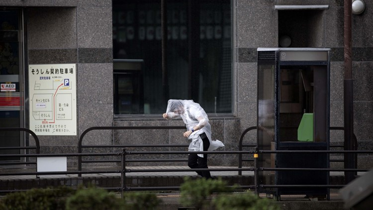 Two dead after typhoon batters Japan