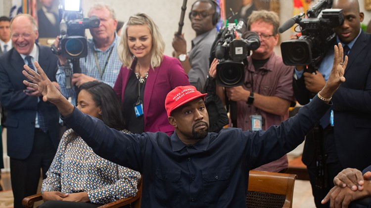 Kanye in the Oval office