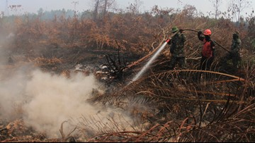 Thousands of fires in Indonesia produce thick haze across Southeast Asia