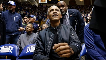 Obama's style catches Internet's eye at UNC vs Duke game