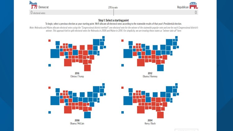 INTERACTIVE MAP: Plot the path to 270 Electoral College votes