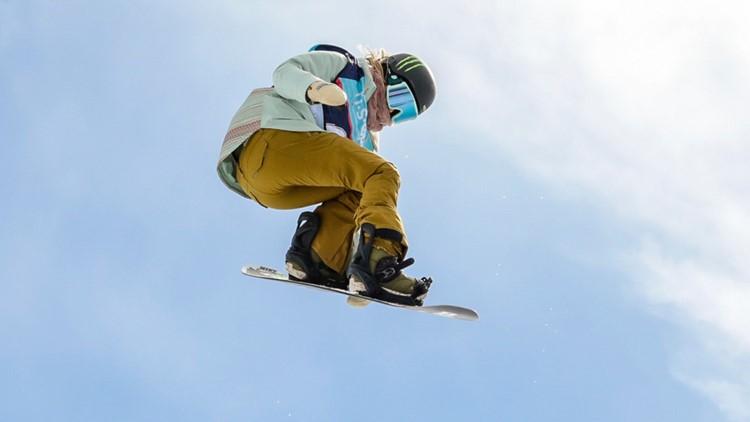 Chloe Kim February snowboarding