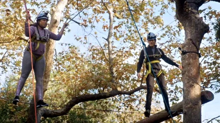 Phoebe Robinson Is 'Truly Terrified' While Taking on a Ropes Course with Kevin Bacon