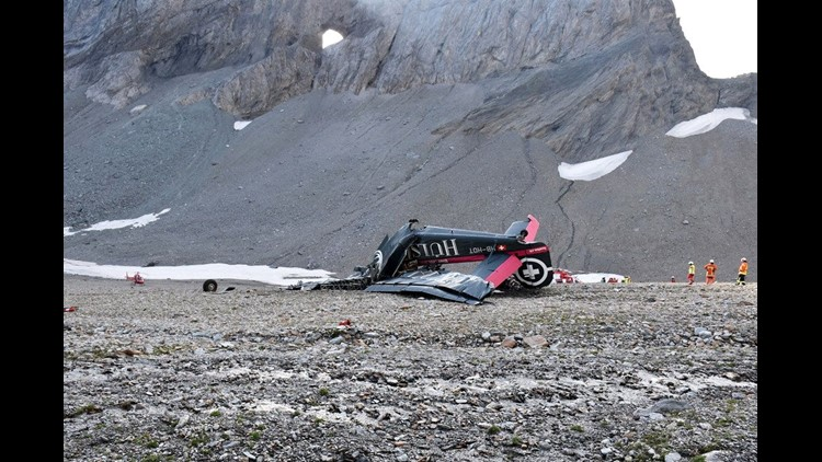 20 dead after vintage military plane crashes in Swiss Alps