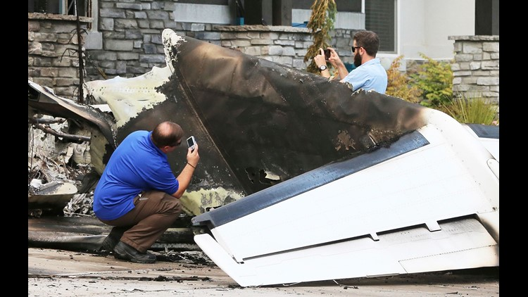 Pilot crashes plane into own home 'after fight'