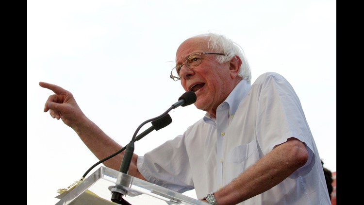 Sen. Bernie Sanders announced Thursday that he will campaign in nine battleground states to try to elect Democrats to Congress and state offices.