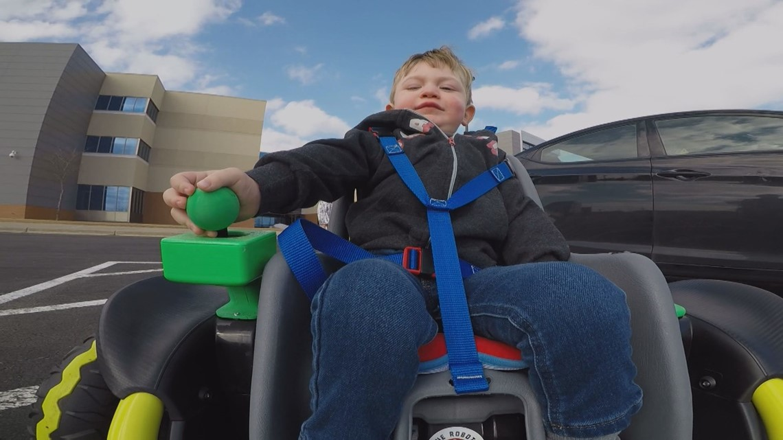 High school robotics students build power wheelchair for 2-year-old