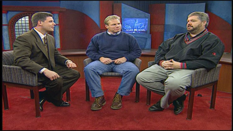 Randy, Dave Nelson and Mike Grant in studio
