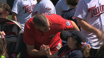 Joe Mauer hosts sports-filled event for families from Gillette Children's Speciality Healthcare specialty