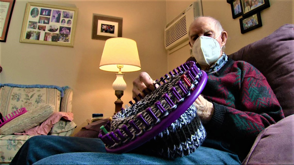 WWII veteran spends COVID time weaving hats for Salvation Army | kare11.com