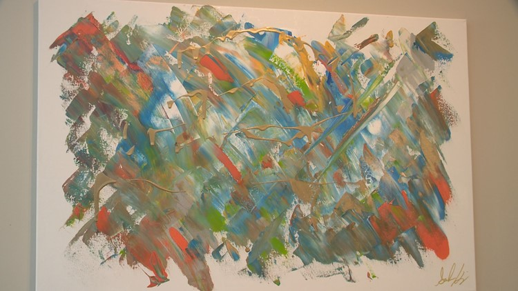 Artist with a rare neurological condition sees and paints sounds
