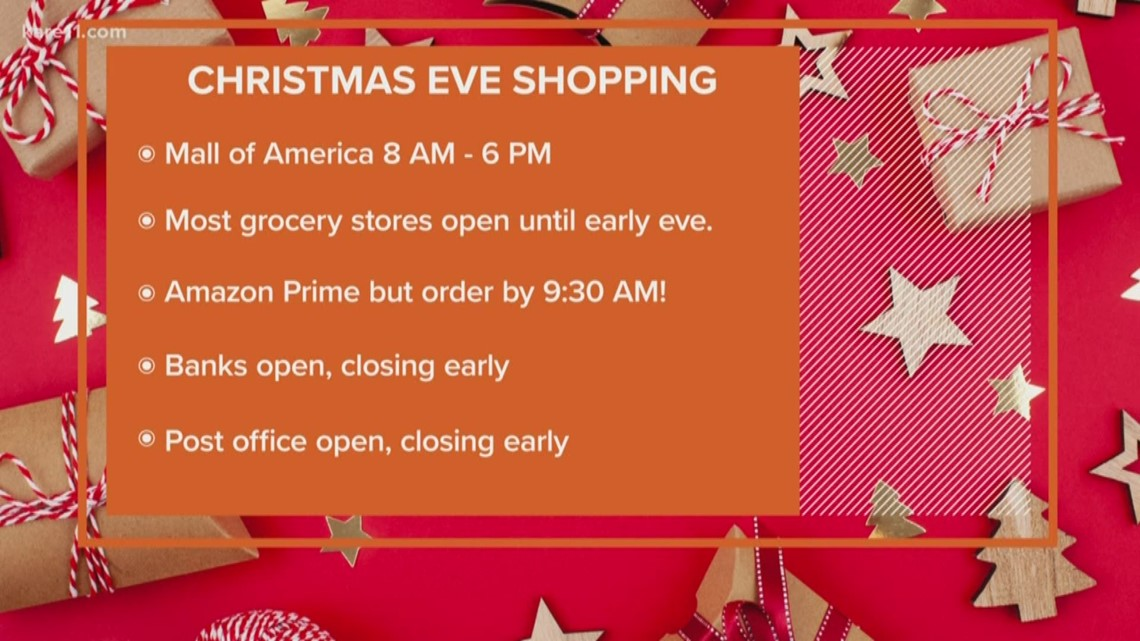 Its December24 2020 Its Christmas Eve Is The Post Office Open What's open and closed on Christmas Eve | kare11.com