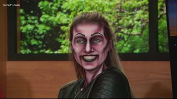 Valleyfair creates a zombie makeup look for Halloween