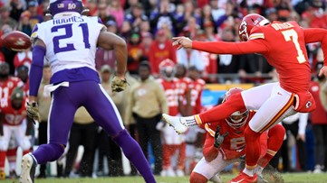 Butker's late FGs help Chiefs rally past Vikings, 26-23