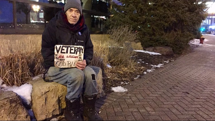 William Tentis, a homeless veteran befriended by a St. Paul police officer