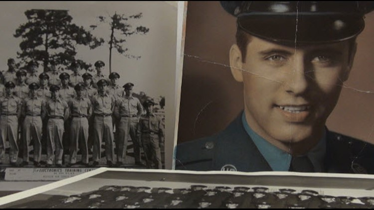 Family photos show Richard Staab serving in the Air Force during the Korean War.