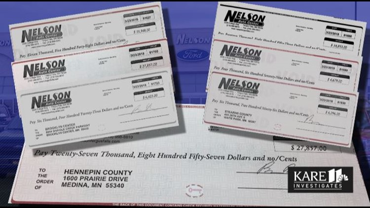 Nelson Auto refund checks