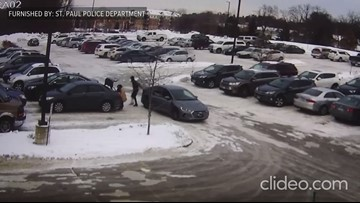 St. Paul Police release video of woman robbed, dragged by car