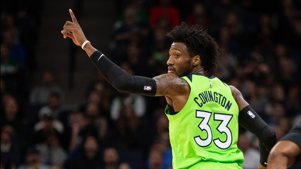 Timberwolves forward Covington talks hoops and weather with Perk