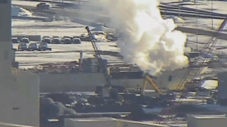 Crews respond to fire on decommissioned ship in Duluth harbor