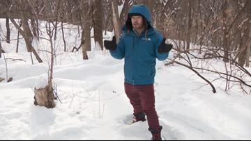 Sven Sundgaard goes snowshoeing at the National Wildlife Refuge