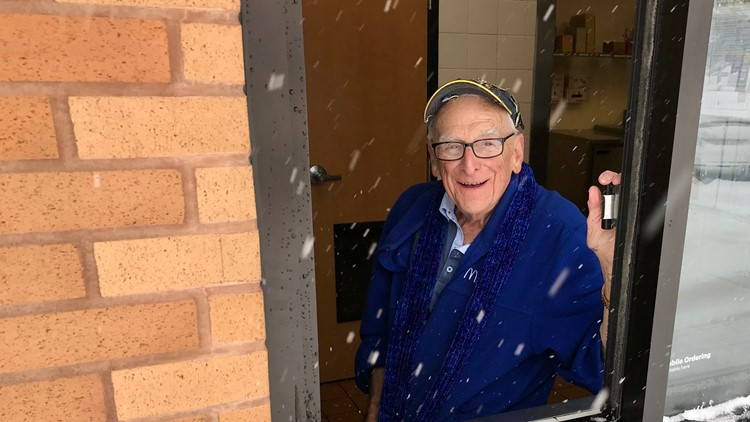 88-year-old Art Mason has worked nearly 30 years at the McDonald's in Wayzata, Minnesota