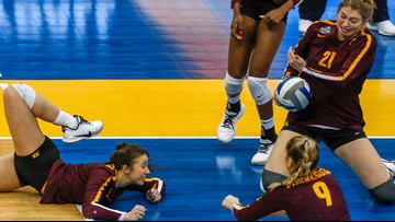 Gophers swept by defending champs Stanford in NCAA Volleyball semi