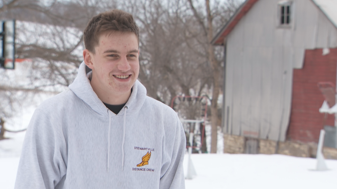Stewartville's Will Tschetter stands out on and off the court
