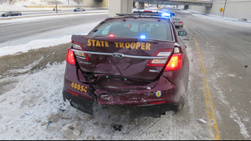 State Patrol: 10 squads hit in 12 days