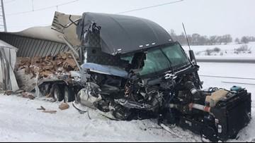 Semi hits MnDOT plow on I-94 near Melrose