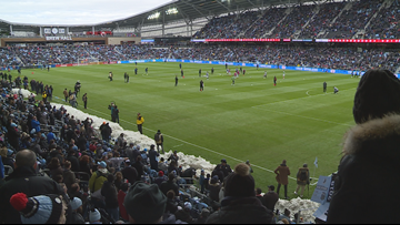 Minnesota United players react after home opener