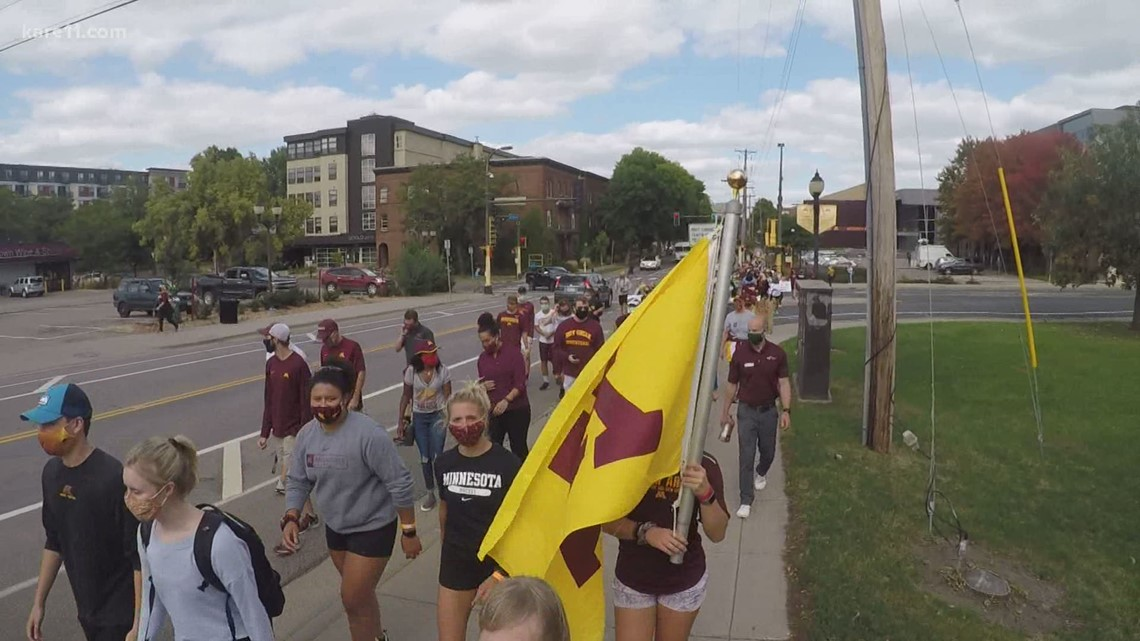 U of M athletes protest the cutting of four athletic programs