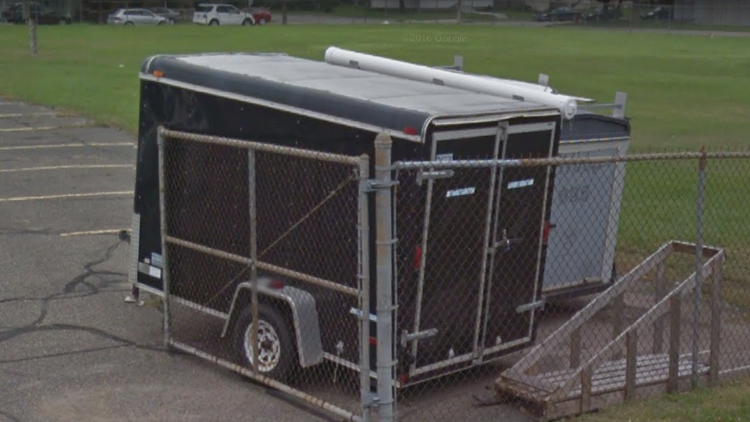 Picture of the stolen Troop 254 trailer.