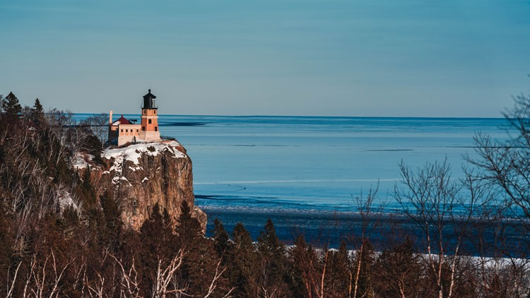 Split Rock Lighthouse stands tall before Lake Superior
