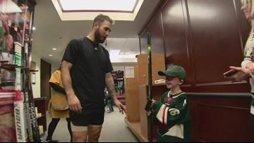 MN Wild's Jason Zucker surprises boy at game