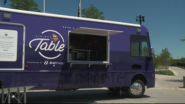 'Vikings Table' 38-foot food truck to serve meals to youth in Twin Cities
