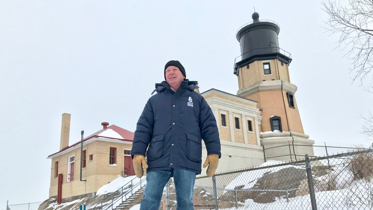 Lee Radzak has been keeper of the Split Rock Lighthouse for 36 years