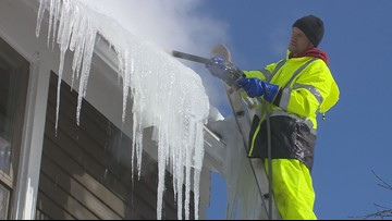Ice dams keep removal crews busy