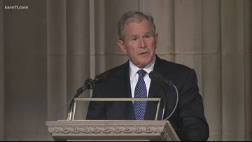 George W. Bush's tribute to his father