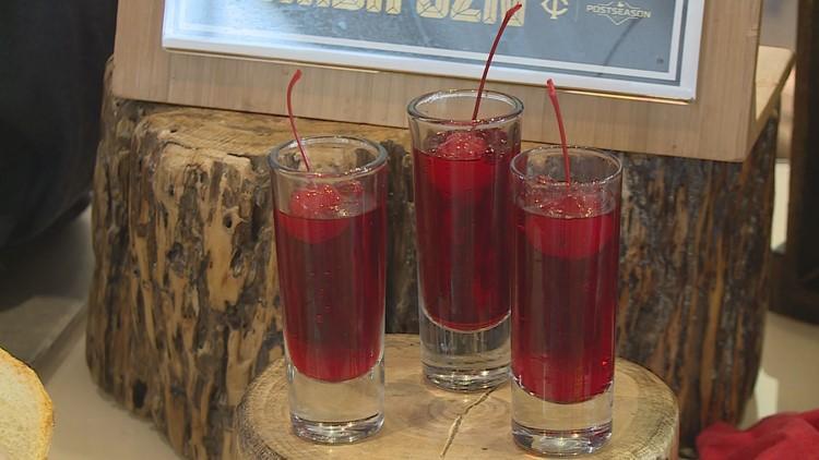 Cherry Bomba Jell-O Shots